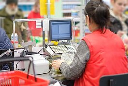 Retailers are hiring more cashiers and other workers to keep up with demand during the pandemic.