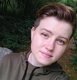 Ciana Witherell identifies as non-binary, which is a spectrum of gender identities that are not exclusively feminine or masculine.