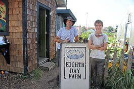 Andy Rozendaal (left) and John Puttrich (right) comprise the leadership team and are Eighth Day Farm's two full time employees.