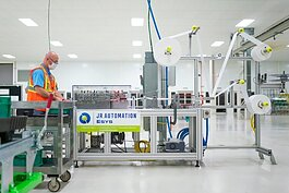 JR Automation worked with GM to build a mask assembly line in metro Detroit in just six days.