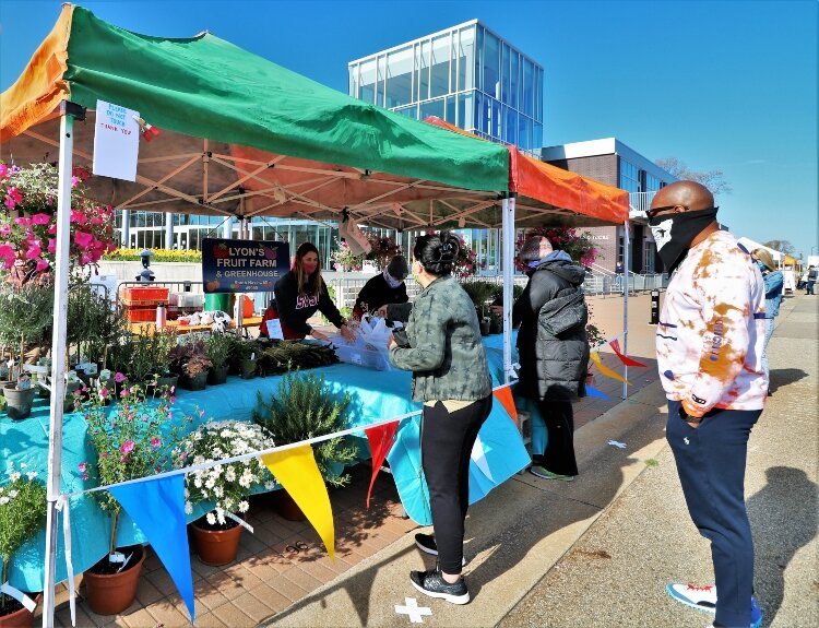 Even with new safety rules, farmers markets are seeing higher attendance.