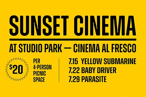 Sunset Cinema and Listening Lawn debuts: Studio Park debuts a solution for fans of cinema and music