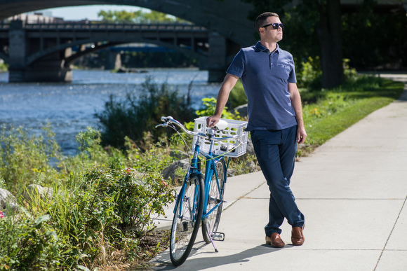 DGRI's Tim Kelly at one of the riverside trails downtown.