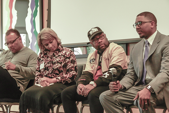 Panelists discuss equality and opportunity in Grand Rapids.