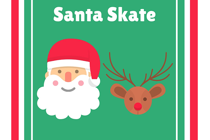 Mr. & Mrs. Claus: All skate with the first family of Christmas
