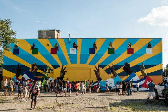 GAAH and the Hispanic Center of Western Michigan created this stunning mural on Grandville Avenue.
