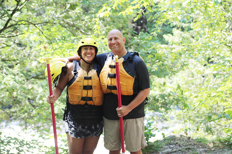 Stephanie Adams and her husband, Dan Adams, are big outdoor enthusiasts.