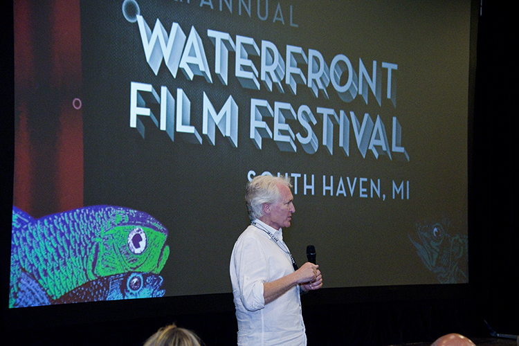 Filmmaker Steve Mims holds a Q&A following the screening of his film Ario & Julie during the 2014 WFF in South Haven.