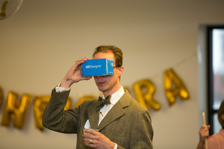 Rapid Growth's own Adam Bird tries out the VR tour.