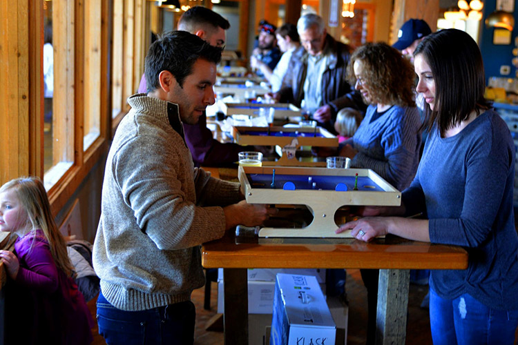 Klask at Odd Side Ales in Grand Haven.