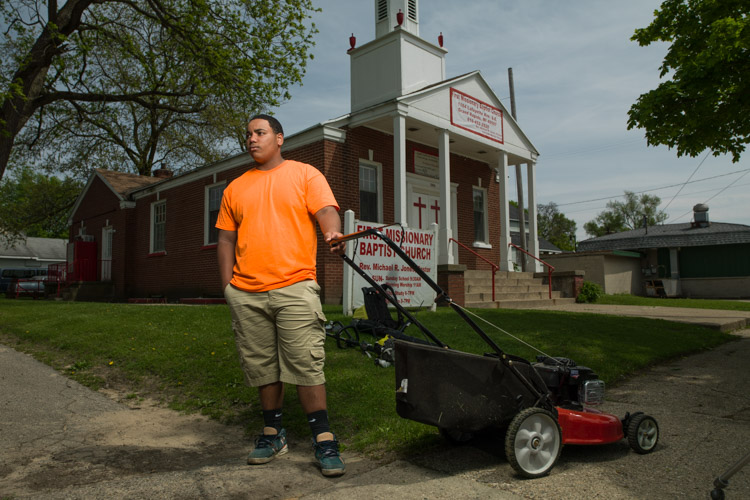 Calvin Pimpleton owns a lawn care business.