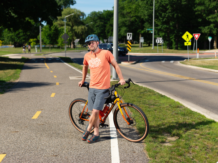 Mike Posthumus is a regular bicyclist and bike lane user.