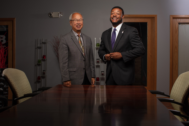 Bing Goei, left, and Eric Foster, right.