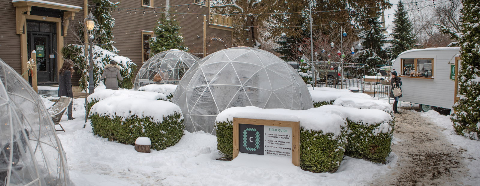 Outside Coffee Co. keeps people warm with domes and drink through winter.