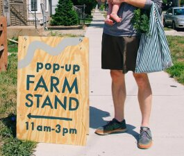 food policy council pop up farmstand