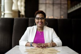 Nadia Brigham, co-owner of GRNoir Wine and Jazz Bar.
