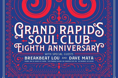 GR Soul Club: 8th-year anniversary party welcomes BreakBeat Lou & Dave Mata