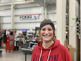 Shelby Baumann is a material handling manager at Fogg Filler.