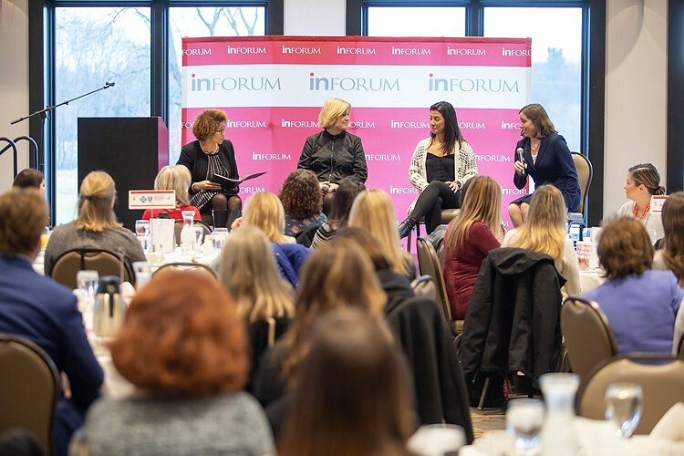 Panelists discuss the state of women in business.