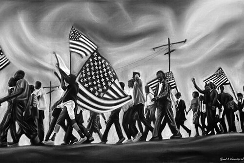 The Continual Struggle fine art exhibit: The American freedom movement and seeds of social change