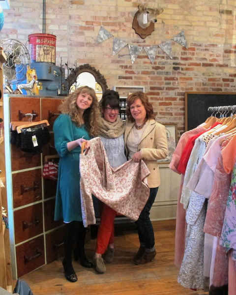 upcycle boutique found brings vintage clothes