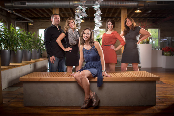 From left, Todd, Kate, Tina, Kirsten, and Reagan, the StyleBattle team.