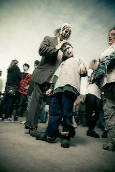 The living dead gather for the Zombie Walk.