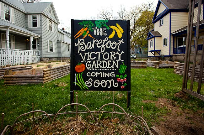 Barefoot victory garden cultivates a neighborhood for What was the goal of victory gardens