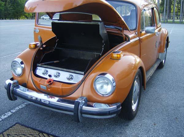Creativity + Entrepreneurship + 1974 VW Beetle = grill rental business