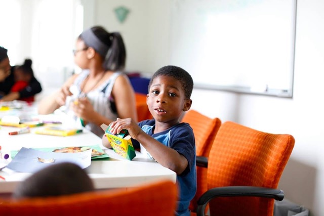 A preschooler at Brilliant Detroit