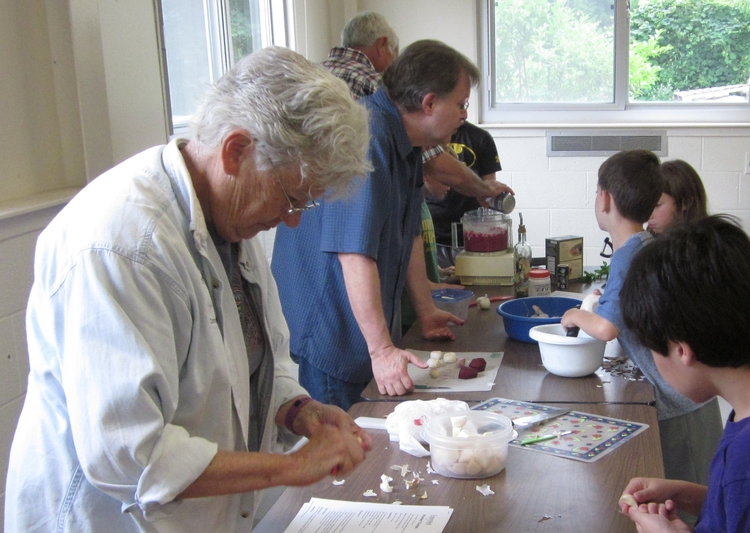 An intergenerational cooking class in Chelsea.