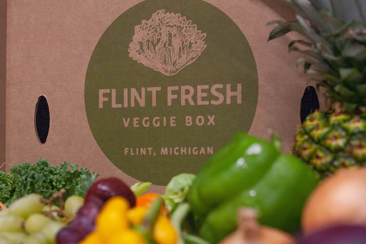 Food delivery helps close the gap on the lack of places to buy fresh produce in the city of Flint.