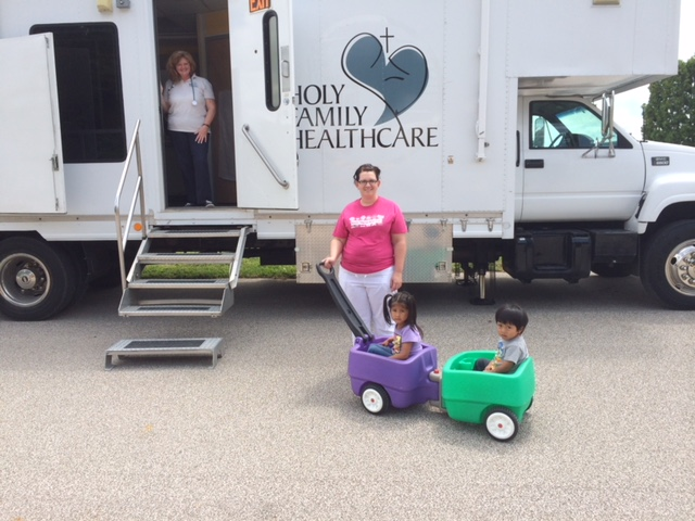 Holy Family Healthcare's mobile clinic.