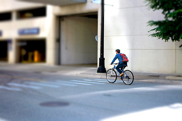 Choosing to ride a bike can be good for you -- and our roads.
