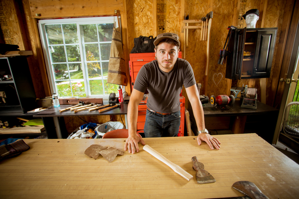 Victor Sultana restores vintage axes and hammers.