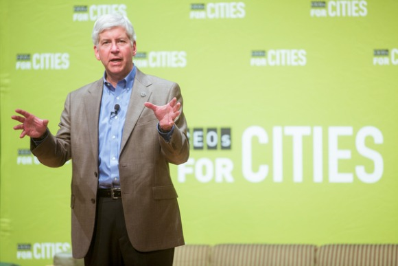 Rick Snyder, governor of Michigan.