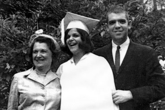 Gilda Radner, middle, with her mother Henrietta and brother Michael.