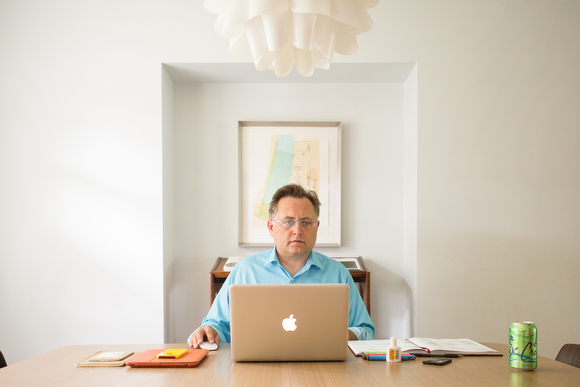 Matthew Patulski in his home office.