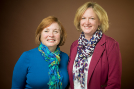 Deb Moore, left, and Betty Epperly, right.