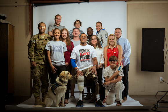 Veterans with Fashion Has Heart, an area non-profit.