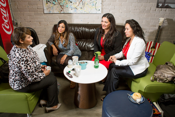 From left, Mindy Ysasi, Allison Lugo Knapp, Stacy Stout, and Rebeca Velazquez-Publes