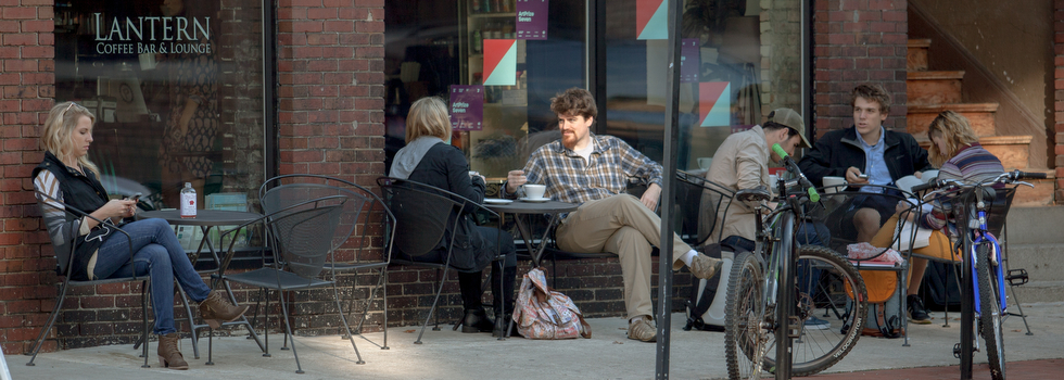 ArtPrize and fall bring coffee patrons outside.