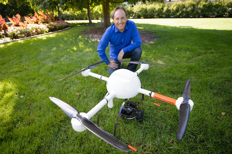 MSU scientist Bruno Basso has been testing UAVs with sensors that can help farmers learn more about their fields