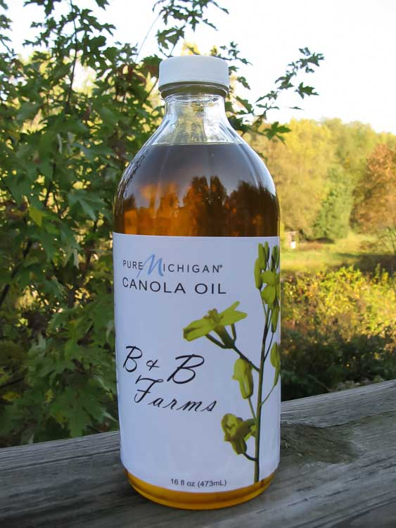 Cold pressed canola oil from B & B Farms