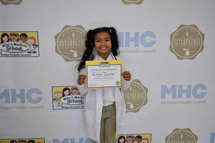 "A ""graduate"" of Michigan Health Council's Mini Medical School."