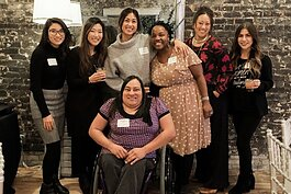 The WOC Give leadership team (L to R): Simone Weithers, Rebekah Bakker, Arena Ellis, Yah-Hanna Jenkins Leys, Robyn Afrik, Lina Pierson with Lucia Rios in the front. Not pictured are Christine Mwangi, Yah-Sheba Jenkins, and Kim Koeman.