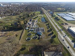 An aerial view of the Zeeland Clean Water Plant