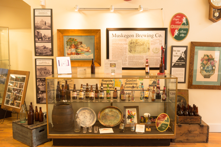 The Muskegon Brewing Co. exhibit greets visitors at the front of the museum.