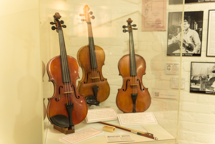 Beebe Violins operated in Muskegon from 1909 through 1938.