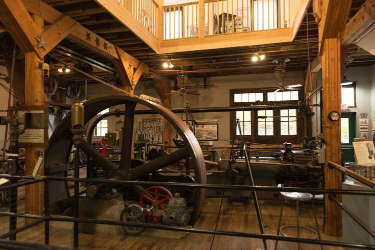 The museum's Corliss valve steam engine.